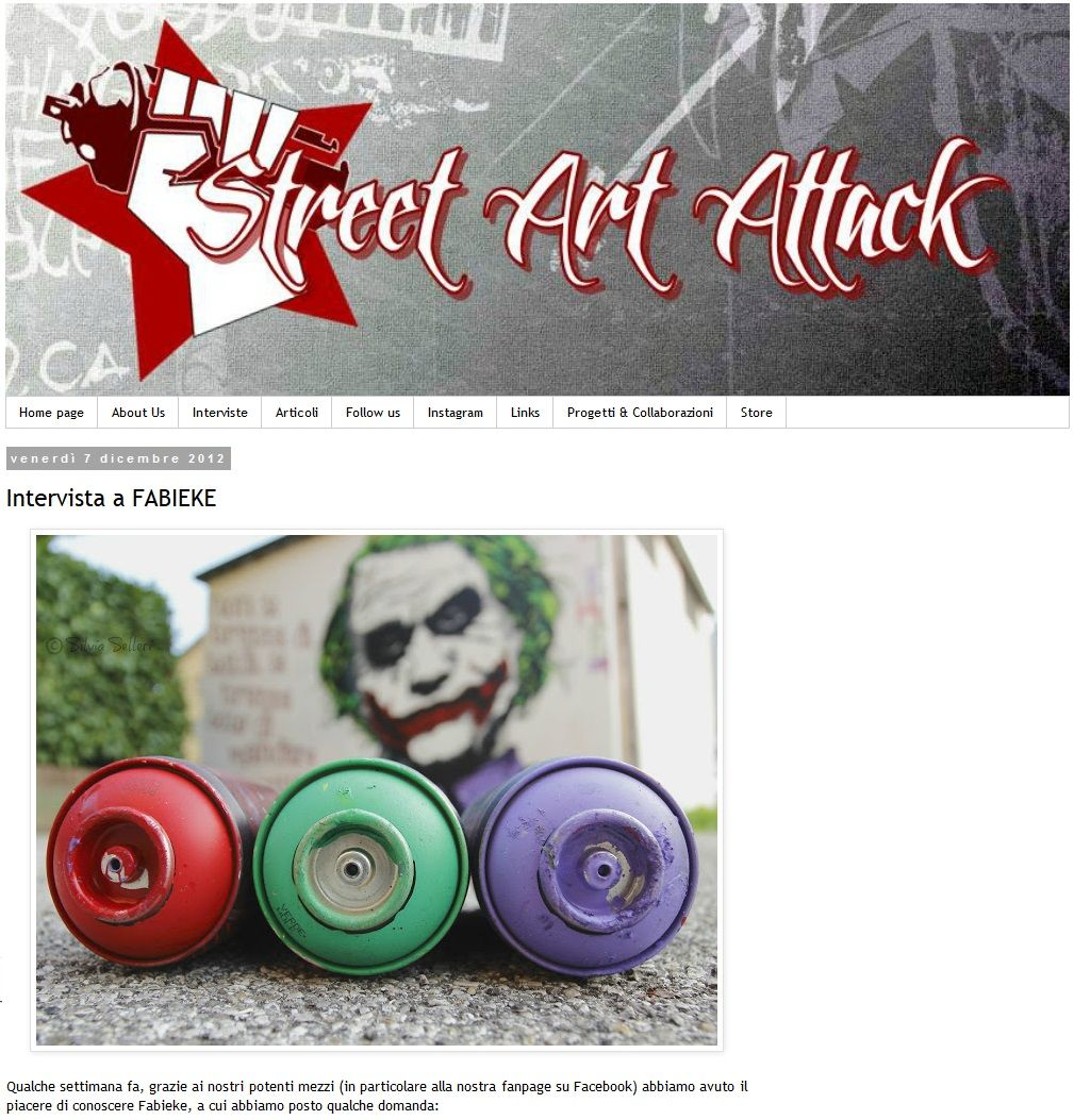 Street Art Attack's Interview